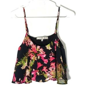 Lovers + Friends Floral Ruffle Crop Top Size XS